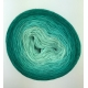 """Perles de Malachite"" Single Fingering Merino (long gradient yarn cake)"