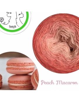 """Peach Macaron"" Single Fingering Merino (long gradient yarn cake)"