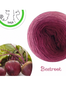 """Beetroot"" Fil Single Fingering Mérinos (long gradient yarn cake)"