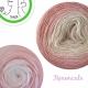 """Renoncule"" Fil fingering Baby Alpaga et Soie (long gradient yarn cake)"