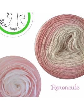 """Renoncule"" Fingering Baby Alpaca & Silk Yarn (gradient yarn cake)"
