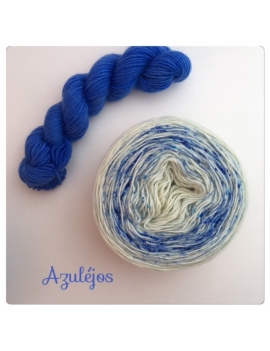 """Azulejos"" Double Gradient Sock Yarn Merino Alpaca & Nylon"