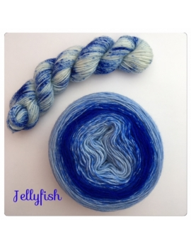 """Jellyfish"" Double Gradient Sock Yarn Merino Alpaca & Nylon"