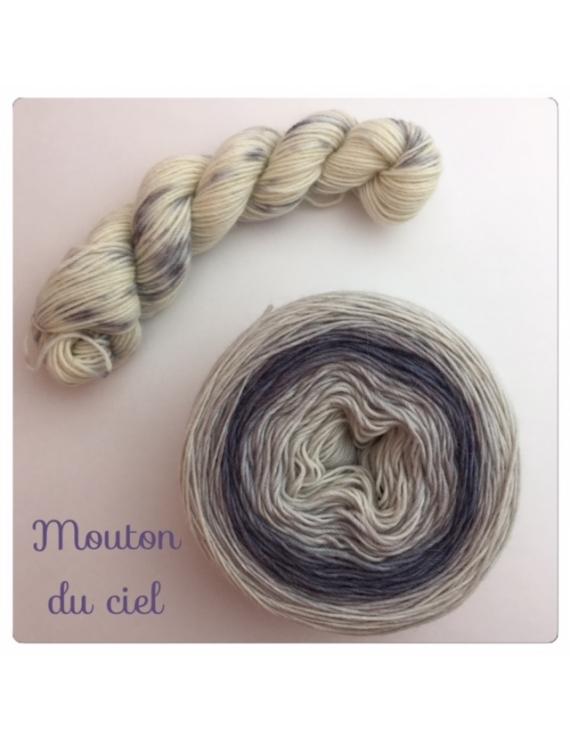 """""""Mouton du Ciel"""" Double Gradient Fil à Chaussette Mérinos Alpaga & Nylon"""