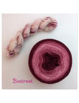 """Beetroot"" Double Gradient Sock Yarn Merino Alpaca & Nylon"