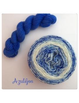 """Azulejos"" Double Gradient Fil à Chaussette Mérinos Alpaga & Nylon"