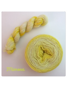 """Mimosa"" Double Gradient Fil à Chaussette Mérinos Alpaga & Nylon"