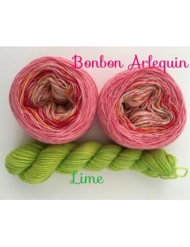 "Gradient ""Bonbon Arlequin"" Fil à Chaussette Mérinos Alpaga & Nylon"