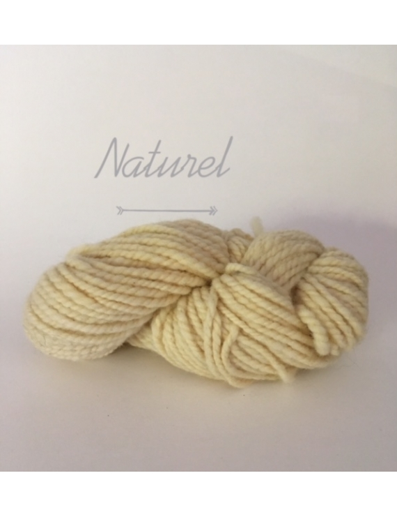"""Naturel"" Fil Super Bulky 100 % Mouton Ile de France"