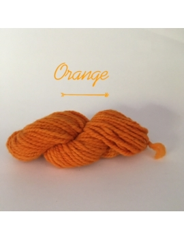 """Orange"" Fil Super Bulky 100 % Mouton Ile de France"