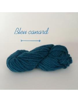 """Bleu Canard"" Fil Super Bulky 100 % Mouton Ile de France"