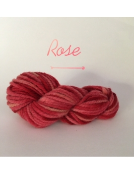 """Rose"" Fil Super Bulky 100 % Mouton Ile de France"