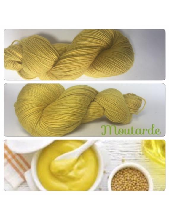 """Moutarde"" Fil Mérinos Alpaga & Nylon"