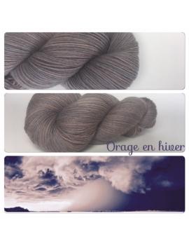 """""""Orage en hiver"""" Fil Mérinos Alpaga & Nylon"""