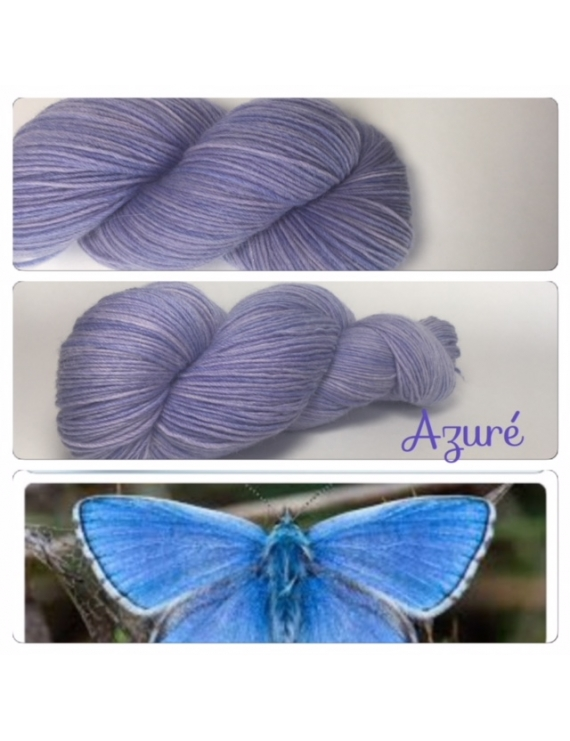 """Azuré"" Fil Mérinos Alpaga & Nylon"