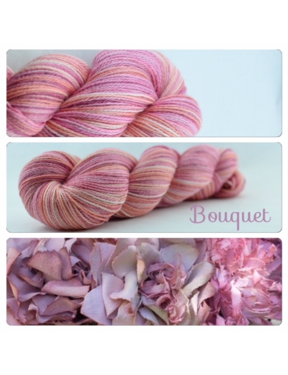 """Bouquet"" Fil fingering Alpaga & Soie"