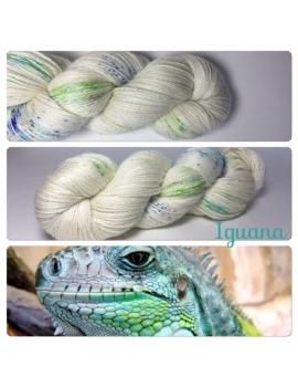 """Iguana"" Fil fingering Alpaga & Soie"
