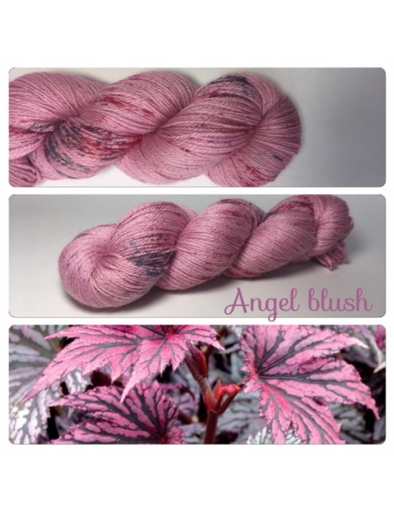 """Angel Blush"" Fil fingering Alpaga & Soie"