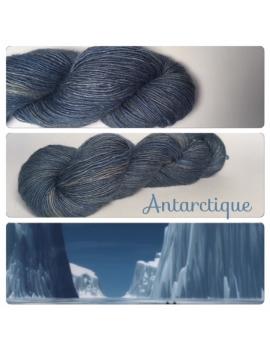 """Antartique"" Single fingering Alpaga Soie Angelina"