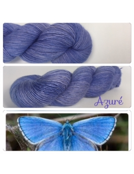 """Azure"" Single fingering Alpaca Seacell"