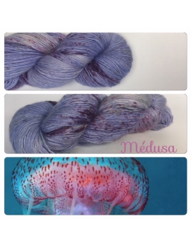"""Medusa"" Single fingering Alpaca Seacell"