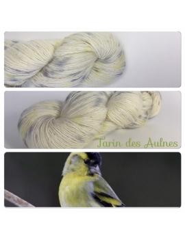 """Tarin des Aulnes"" Single fingering Alpaga Seacell"