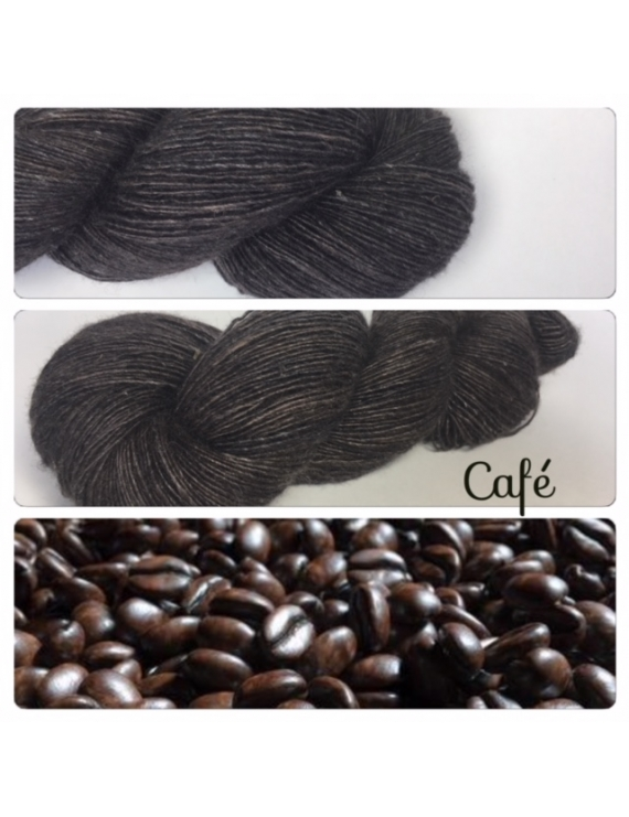 """Café"" Single fingering Alpaga Seacell"