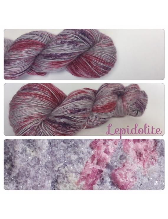 """Lepidolite"" Single fingering Alpaga Seacell"
