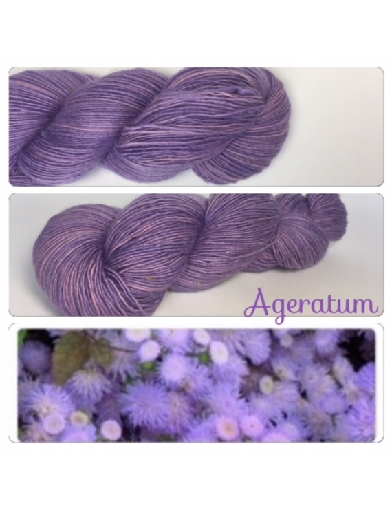"""Ageratum"" Single fingering Alpaga Seacell"