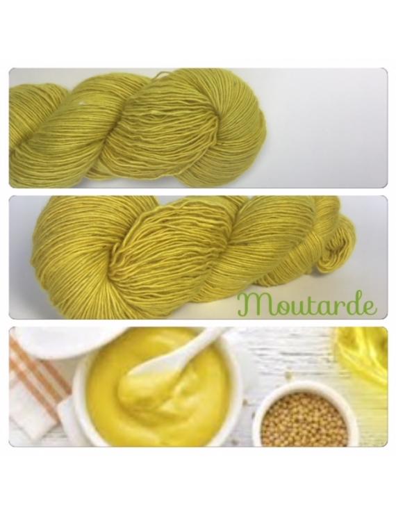 """Moutarde"" Single fingering Alpaca Seacell"