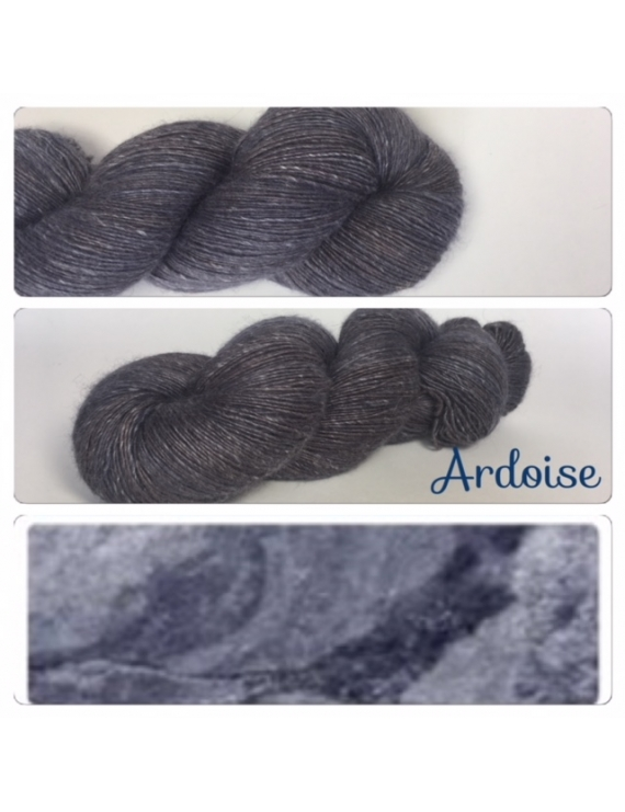 """Ardoise"" Single fingering Alpaca Seacell"