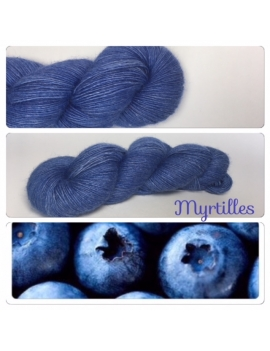 """Myrtilles"" Single fingering Alpaca Seacell"