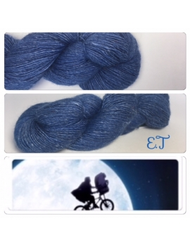 """E.T"" Single fingering Alpaca Seacell"