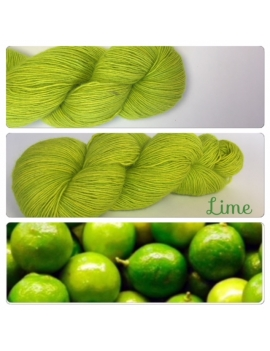"""Lime"" Single fingering Alpaga Rose Fiber"