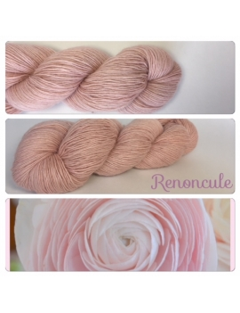 """Renoncule"" Single fingering Alpaga Rose Fiber"
