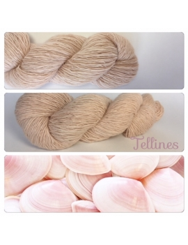 """Tellines"" Single fingering Alpaga Rose Fiber"