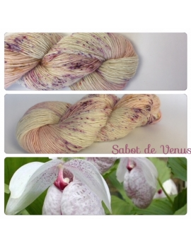 """Sabot de Venus"" Single fingering Alpaga Rose Fiber"