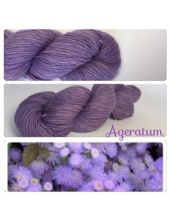 """Ageratum"" Single fingering Alpaga Rose Fiber"