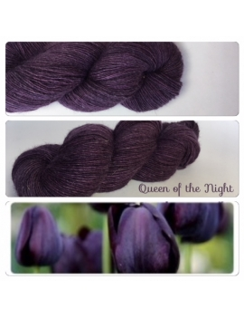 """Queen of the Night"" Single fingering Alpaga Rose Fiber"