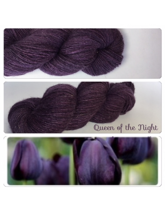 """Queen of the Night"" Single fingering Alpaga Rose Fiber"