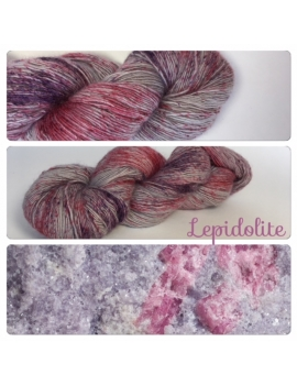 """Lepidolite"" Single fingering Alpaga Rose Fiber"