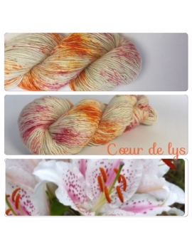 """Coeur de Lys"" Single fingering Alpaga Rose Fiber"