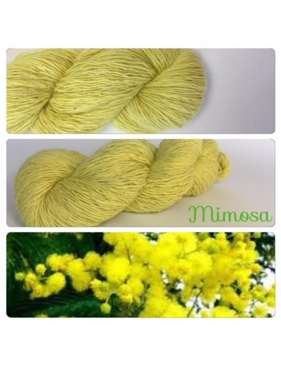 """Mimosa"" Single fingering Alpaga Rose Fiber"