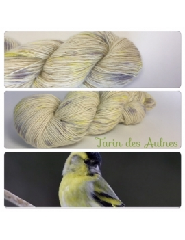 """Tarin des Aulnes"" Single fingering Alpaga Rose Fiber"