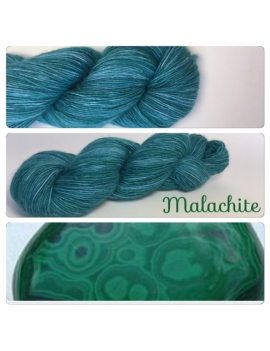 """Malachite"" Single fingering Alpaga Rose Fiber"