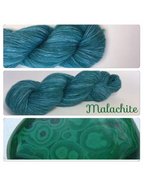 """Malachite"" Single fingering Alpaga Rose Fiber"