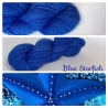 """Blue Starfish"" Single fingering Alpaga Rose Fiber"