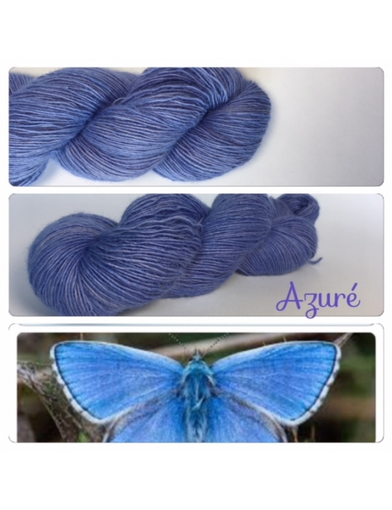 """Ageratum"" Single fingering Alpaga Rose Fiber"