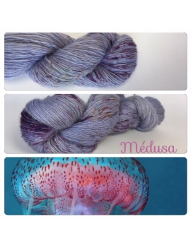 """Medusa"" Single fingering Alpaga Rose Fiber"
