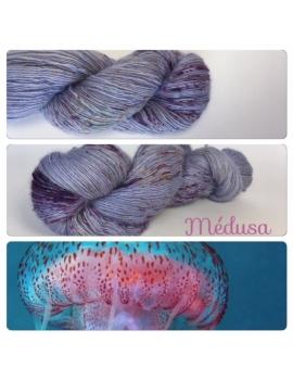 """Medusa"" Single fingering Alpaga Rose Fiber"